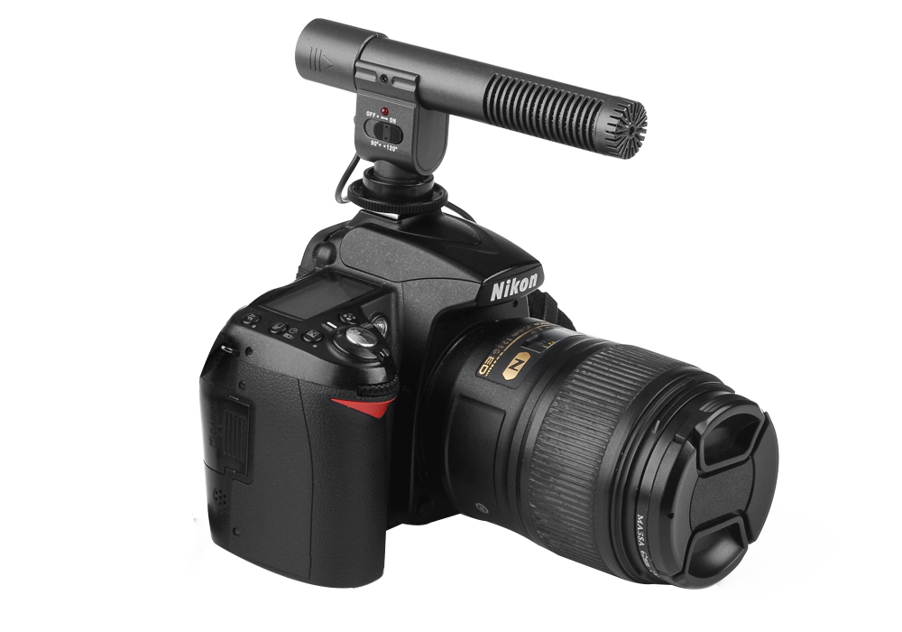 SHENGGU SG-108 Stereo Microphone for DSLR DV Camera - 30-18000Hz Frequency Response, 2 Sound Pick-Up Modes