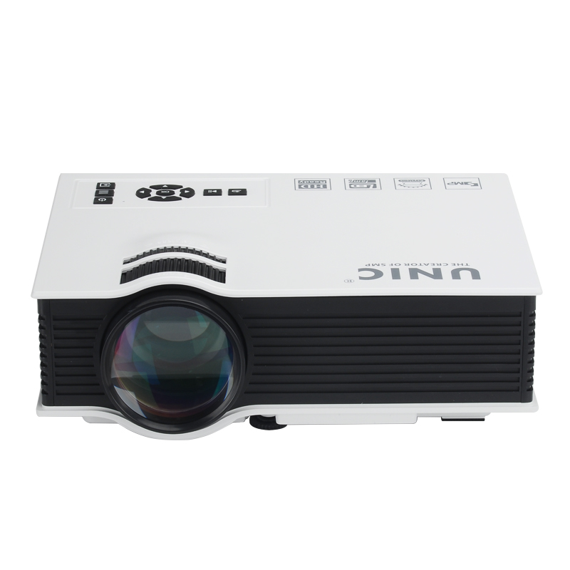 LCD Portable Home Cinema Projector 'Ocular-View' - 800 Lumen, 800:1 Contrast Ratio, HDMI, USB, SD Card, AV