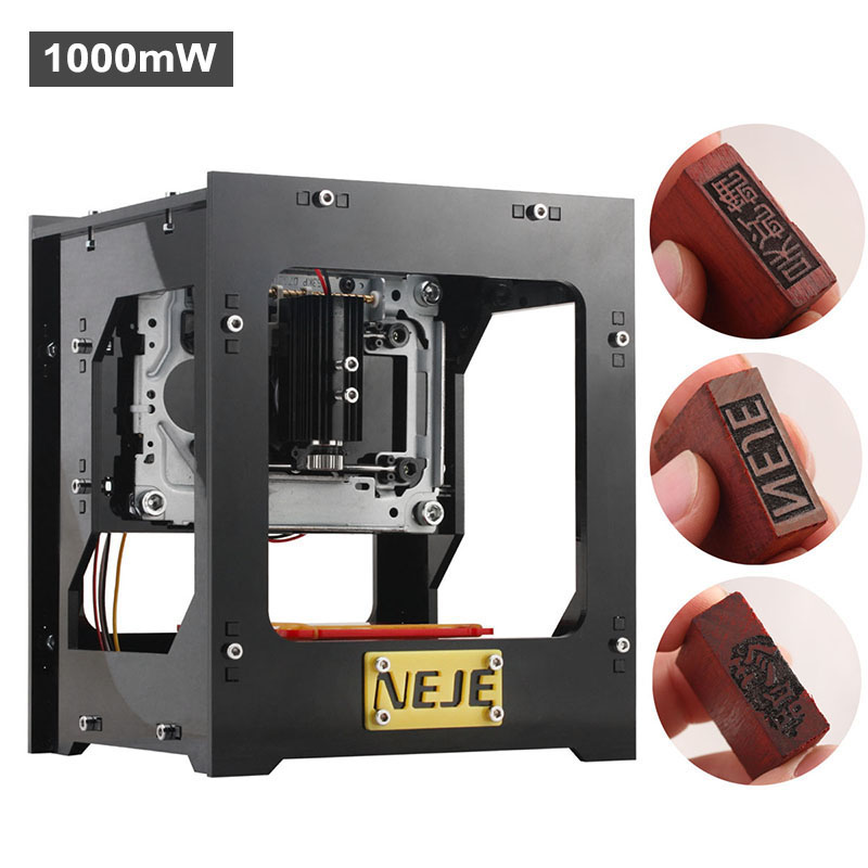 NEJE DK-8-KZ High Speed Laser Engraver - 1000mW, Custom Software Included, Windows Support, 512x512 Resolution