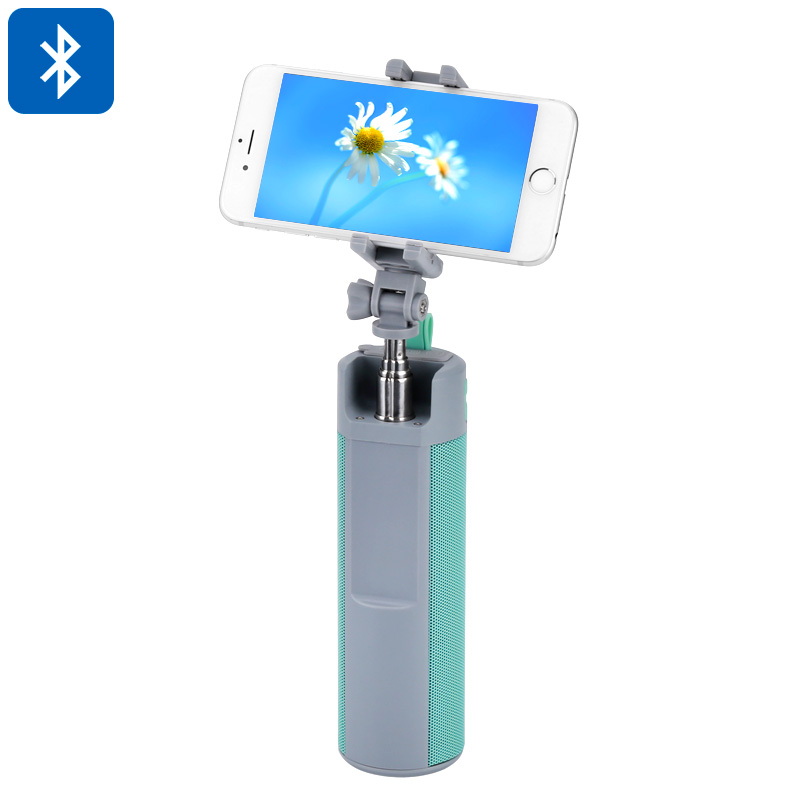 Bluetooth Speaker Selfie Stick - Bluetooth 4.1, 128GB External Memory Support, 5W Speaker, 2000mAh battery, 360-Degree Rotation