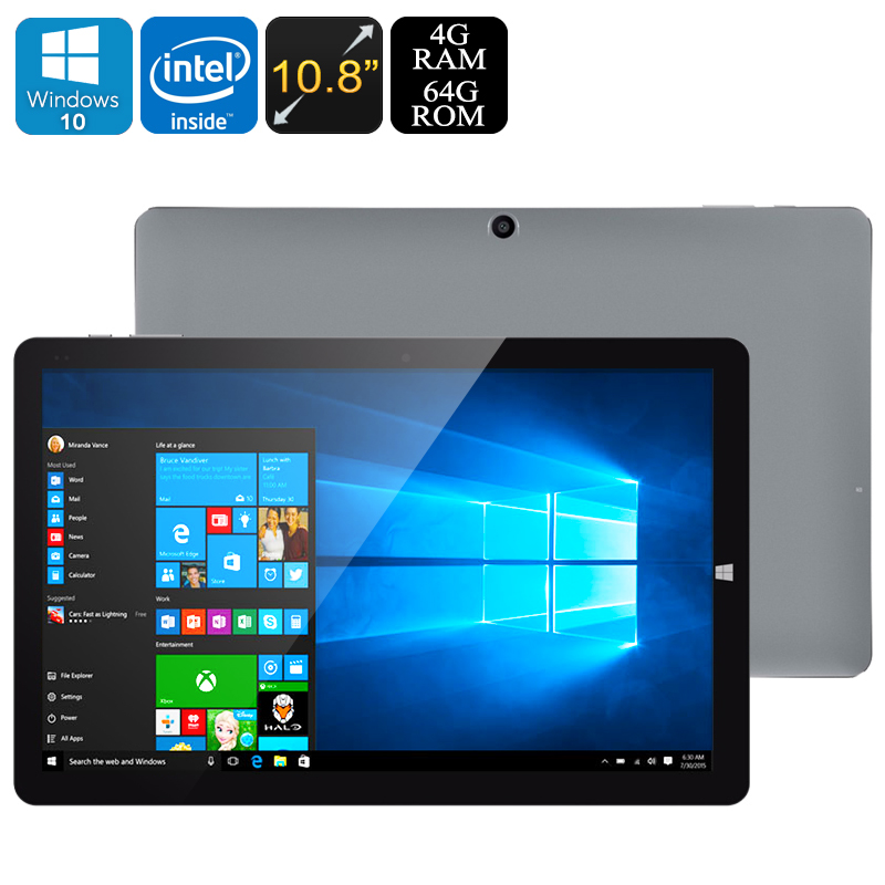 CHUWI HI10 Plus Tablet PC - Licensed Win 10 + Android 5.1, Z8350 64Bit CPU, 4GB RAM, 10.8 Inch Screen, USB Type C