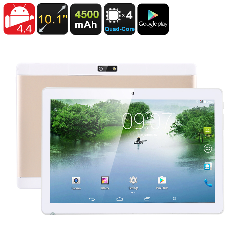 Android Tablet PC - 3G, 10.1 Inch IPS Display, Dual IMEI, Bluetooth, Android OS, Google Play, OTG, Quad-Core CPU, 4500mAh