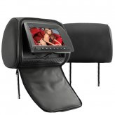 7 Inch Headrest DVD Player with Gaming System (Black Pair)