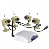Indoors Wireless Home Surveillance Kit with 4x Wireless Cameras (PAL)
