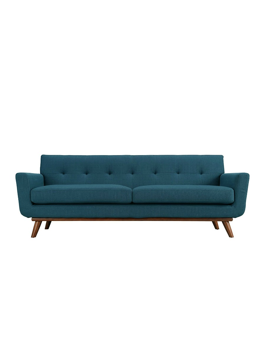 Modway Engage Upholstered Sofa in Azure