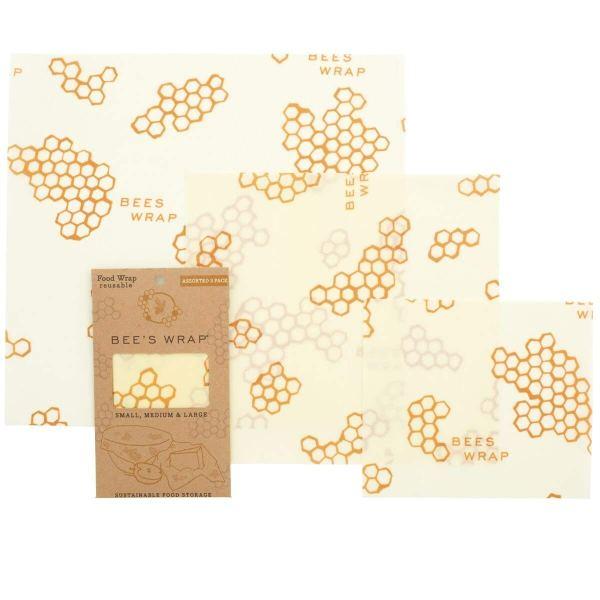 Bee's Wrap Beeswax Food Storage Wraps - Set of 3