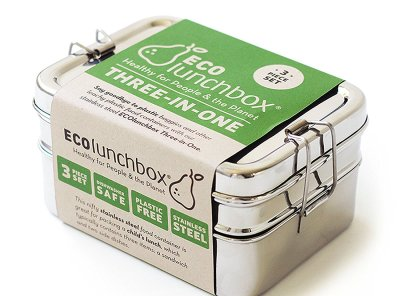 ECOlunchbox Three-in-One Stainless Steel Lunch Box