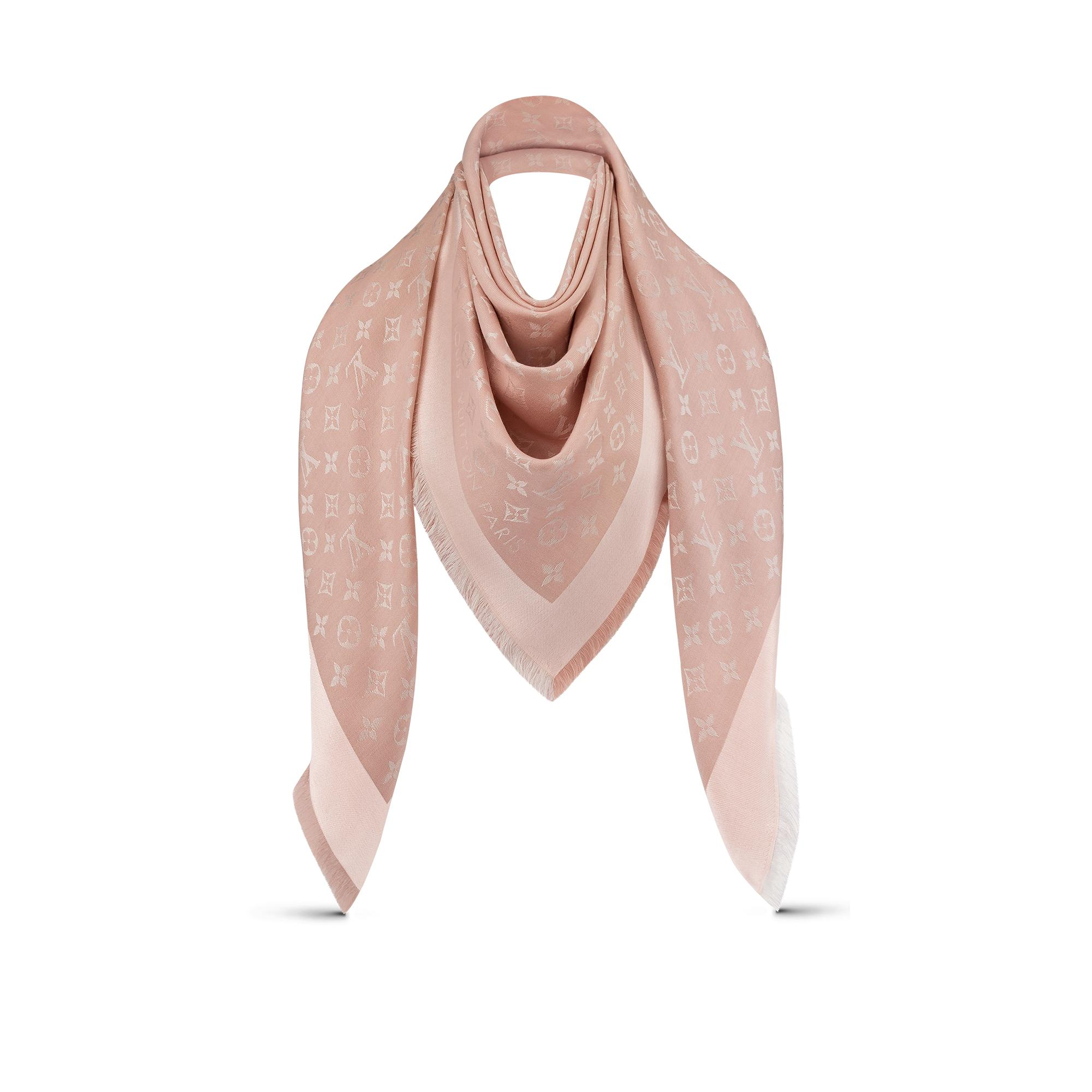 louis vuitton monogram shawl scarves