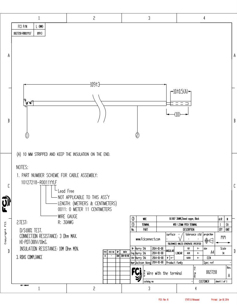 hight resolution of 4910 fci amphenol jumper wires