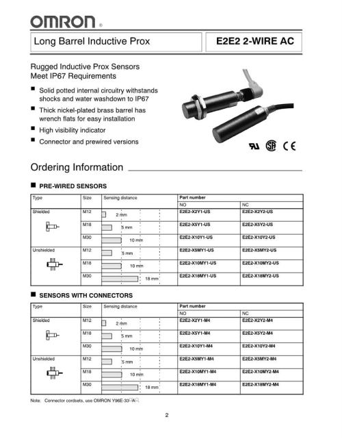small resolution of omron inductive npn 85 c proximity sensors mouser europe enlarge npn proximity switch wiring diagram
