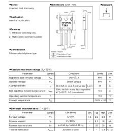 through hole 30 a single fast recovery rectifiers diodes general purpose power switching datasheets [ 828 x 1068 Pixel ]