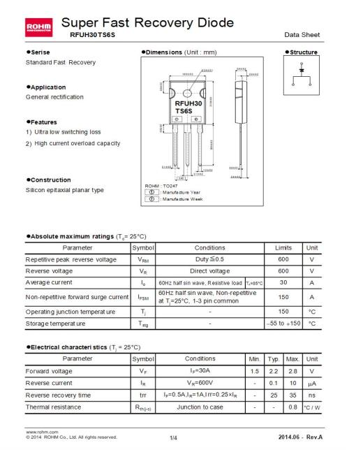 small resolution of through hole 30 a single fast recovery rectifiers diodes general purpose power switching datasheets