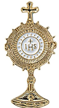 Monstrance lapel pin 2