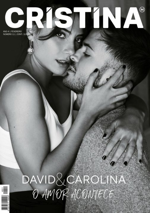 Capa da revista Cristina com David Carreira e Carolina
