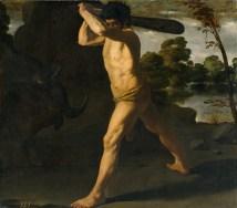 Hércules lucha contra el toro de Creta