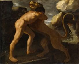 Lucha de Hércules con el león de Nemea,