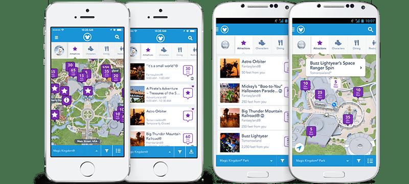 Aplicativos Disney e Universal Orlando