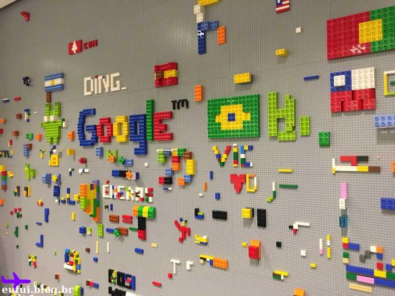 escritório do google são paulo parede de lego