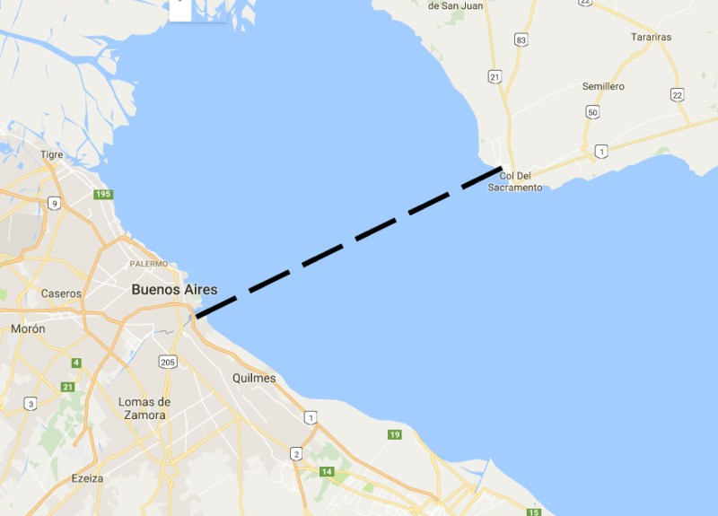 uruguai colonia del sacramento mapa buenos aires