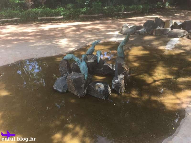 Fonte na Entrada do Parque das Aves em Foz do Iguaçu
