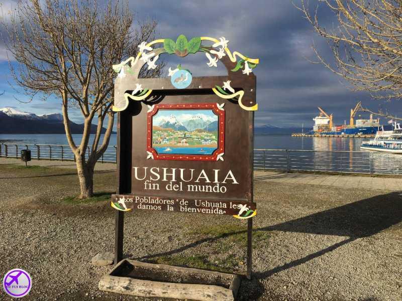 Placa do Fim do Mundo em Ushuaia - Terra do Fogo
