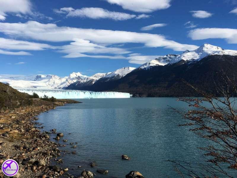 Vista Lago Argentino e Glaciar Perito Moreno em El Calafate - Argentina