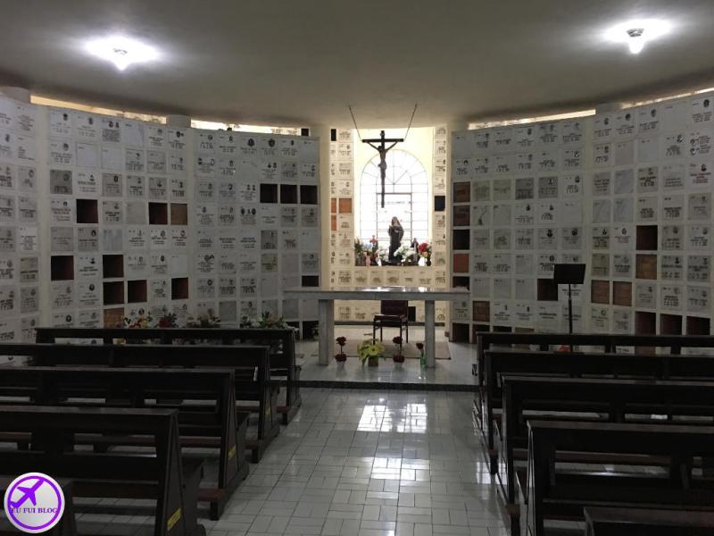 Altar no Ossário da Basílica da Penha em São Paulo
