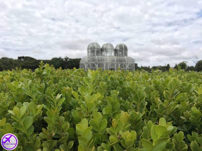 Perspectiva da Estufa do Jardim Botânico de Curitiba - Paraná