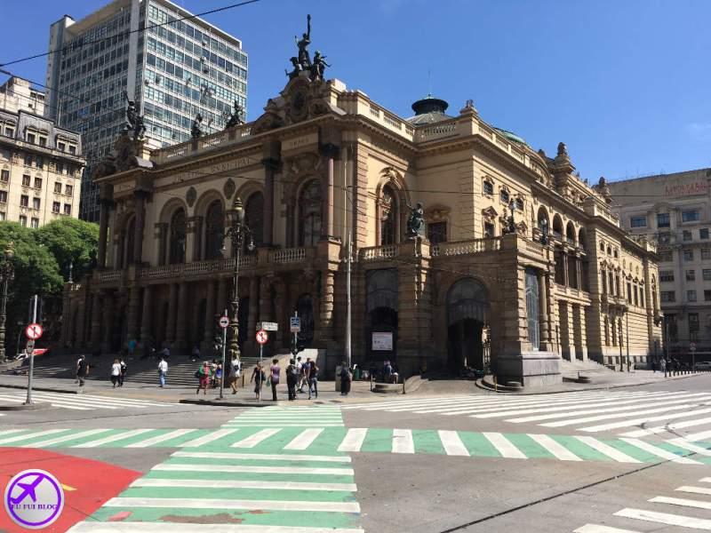 Vesta Externa do Teatro Municipal de São Paulo