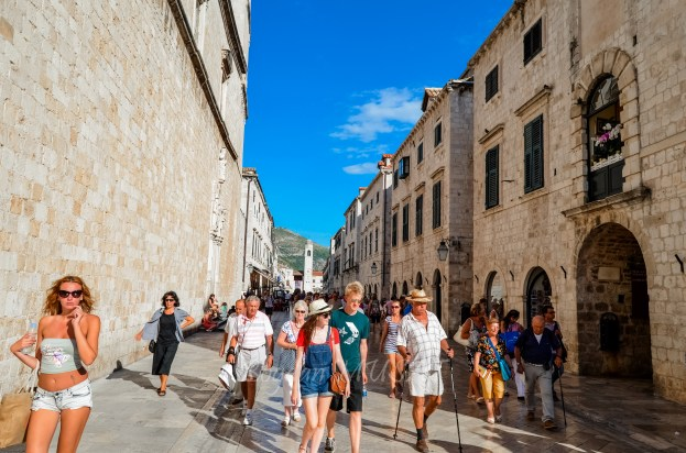 Hot day on Stradun, Dubrovnik