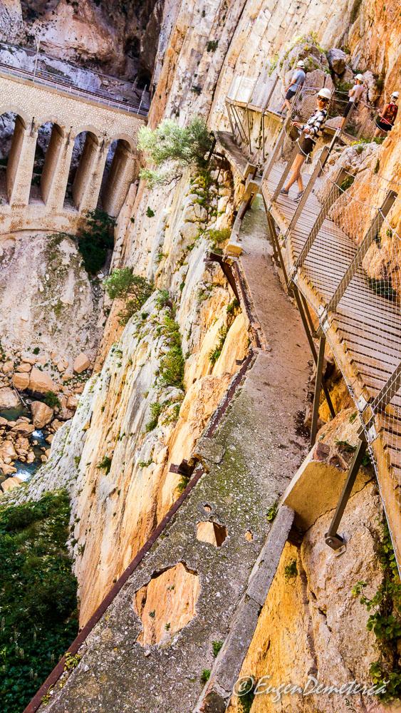 Caminito del rey - drumul vechi si drumul nou