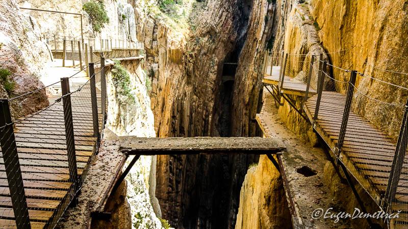 Caminito del Rey - calea veche si cea noua