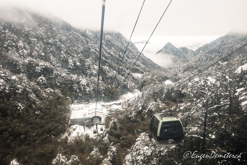 Telecabina muntelui Huangshan