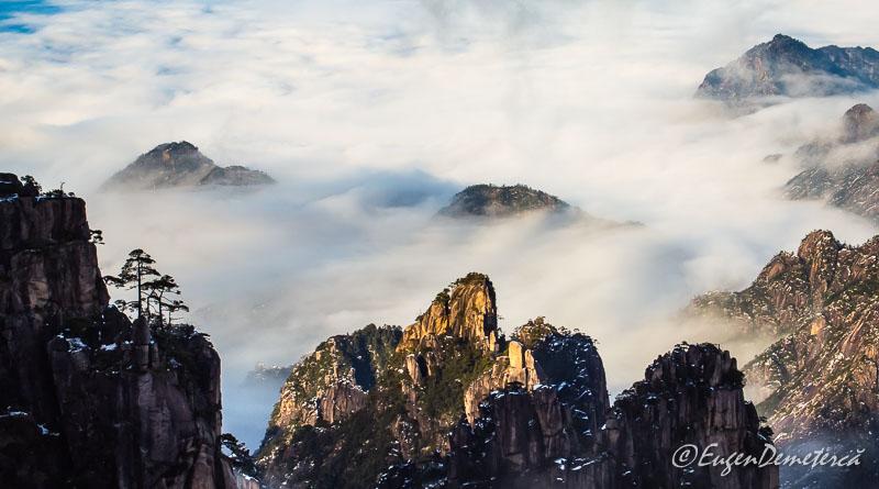 Huangshan - marea de nori