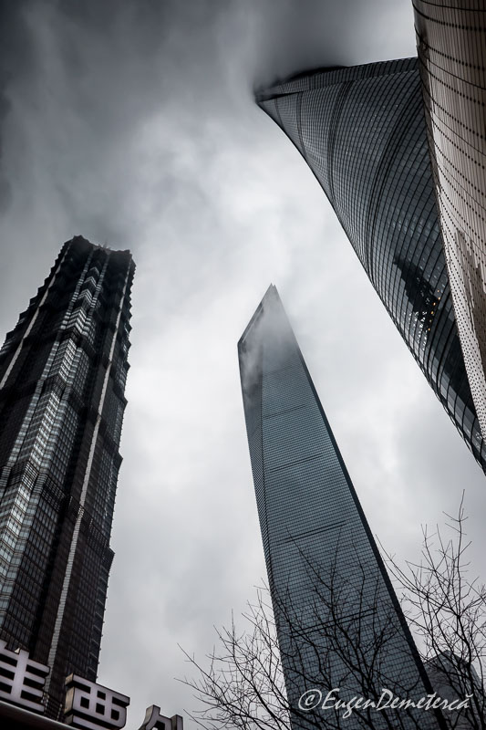 Shanghai tower in nori