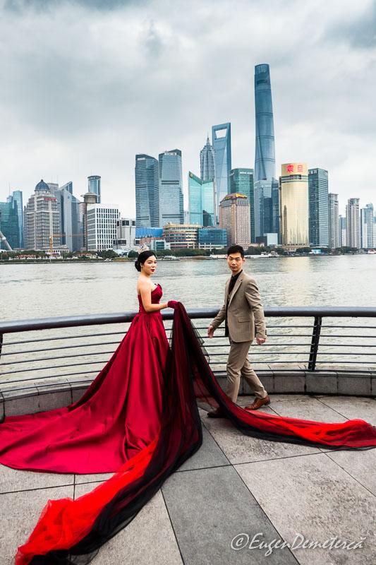 Shanghai - mire si mireasa pe Bund 2