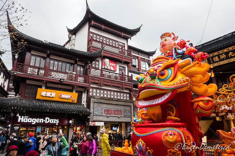 Shanghai - figuri foarte colorate de Anul Nou la Yuyuan bazar 2