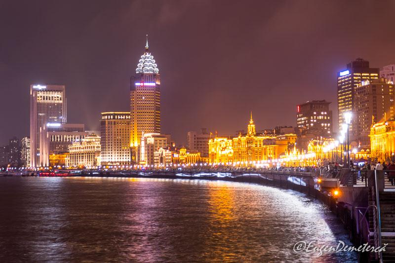 Shanghai -noaptea pe Bund