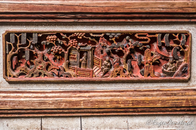 Detaliu sculptura casa Chengzhi