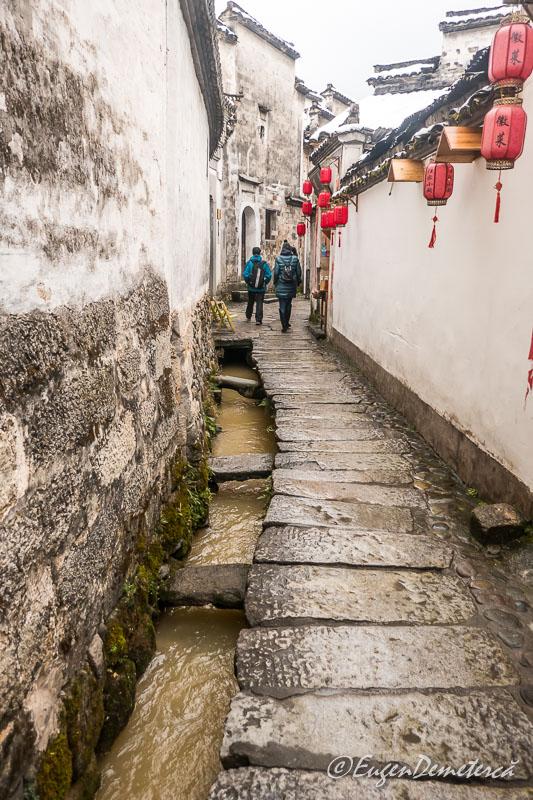 Canal pentru apa in Hongcun 2