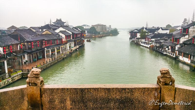 Vedere de pe podul Fansheng in Zhujiajiao