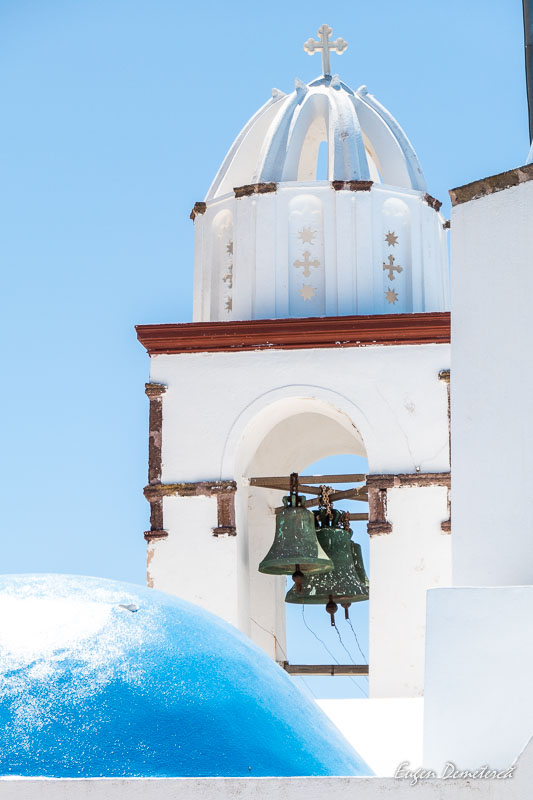 Detaliu biserica din Therassia - Santorini