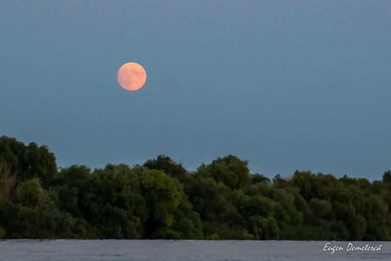 Rasarit de Luna pe Dunare
