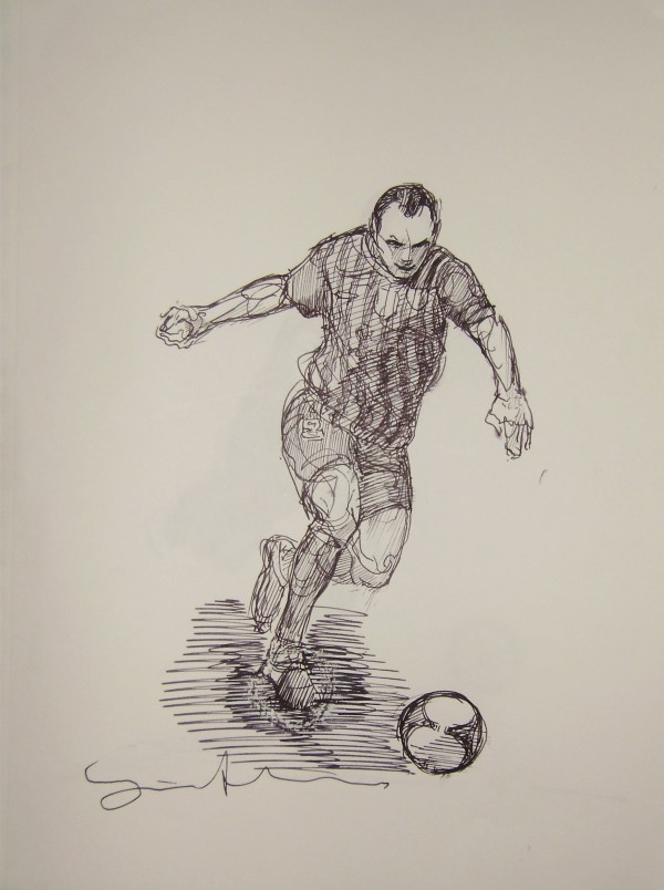 Pen and Ink Drawing Football