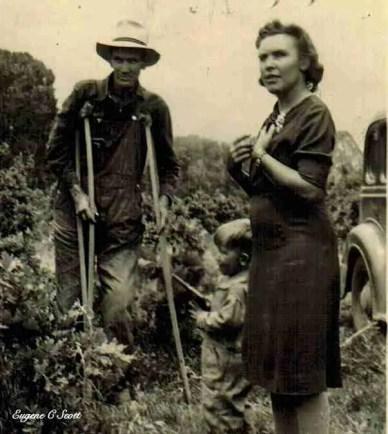 Gustav Gourdin in the garden in the Great Depression