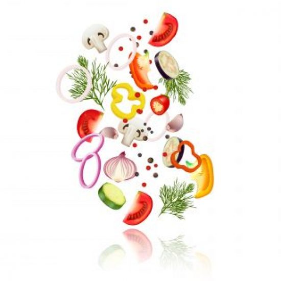 Sliced Vegetables  Concept