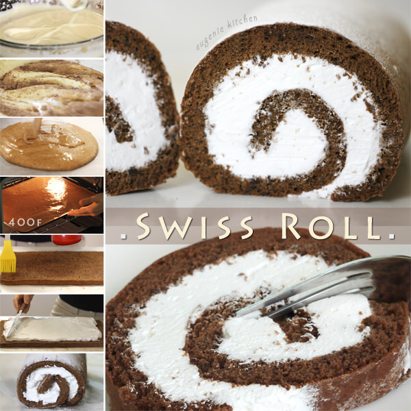 Chocolate Swiss Roll - Jelly Roll - Sprong Cake Recipe