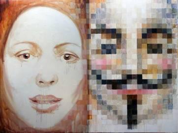 Anonymous, 200x150 cm, oil on canvas, 2008