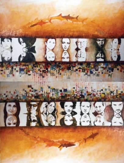Mirrors, 100x150 cm, oil on canvas, 2008