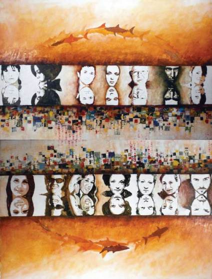 Mirrors, 100x150 cm, oil on canvas, 2008